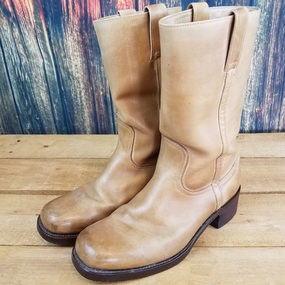 Ongekend Dr. Adams Shoes | Dr Adams Mens Tan Leather Round Toe Cowboy Boots GL-05
